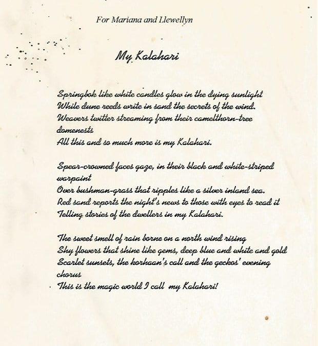 My Kalahari the poem